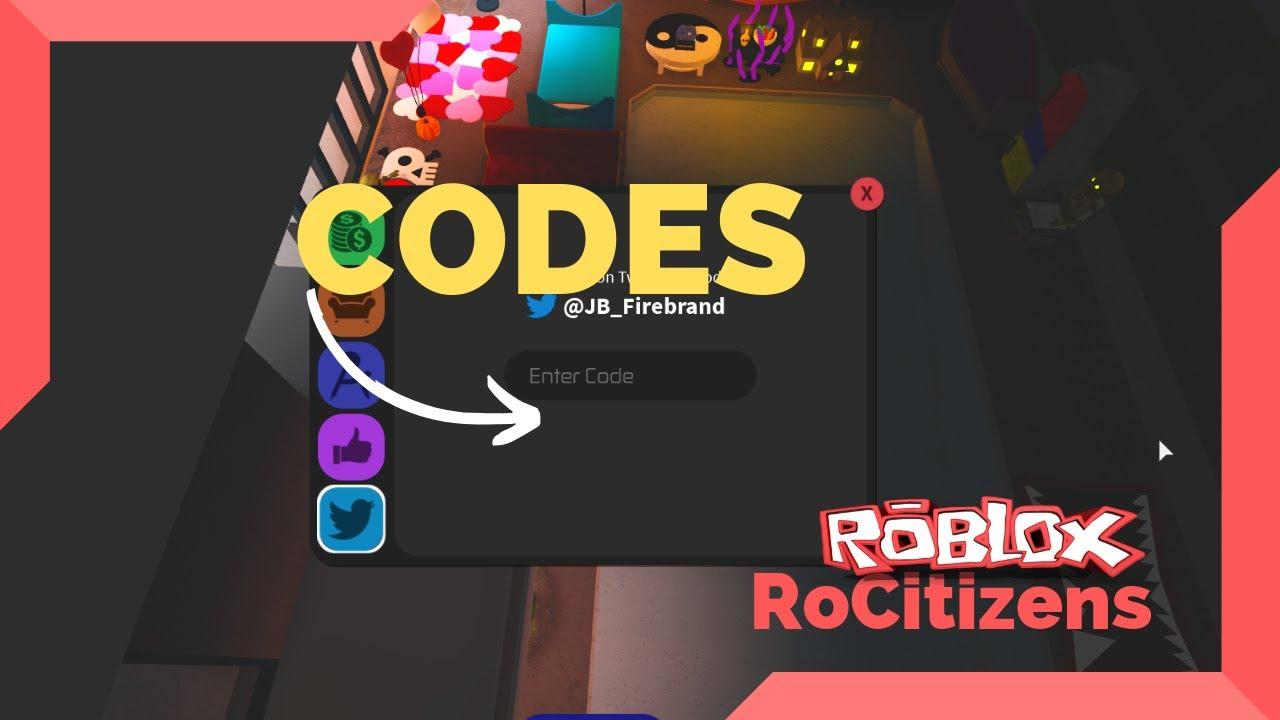 Roblox Rocitizens Codes September 2019 Youtube