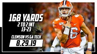 Trevor Lawrence Full Coverage Clemson vs Georgia Tech | 13-23 168 Yards, 2 TDs 2 INTs | 8.29.19