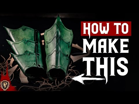 ⚔️ Fantasy Leather Bracers - Armour Tutorial ⚔️ 🛡️ How To Make Leather Armor 🛡️