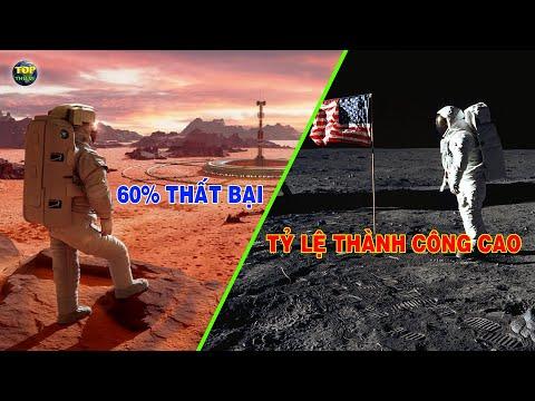 Sự khác biệt khi đưa tàu Vũ trụ đến Mặt trăng và Sao hỏa   Khoa học vũ trụ - Top thú vị  