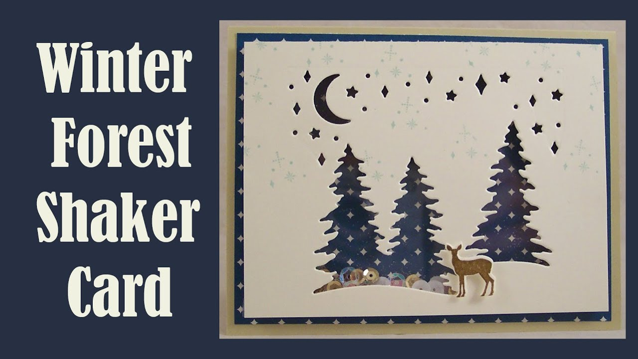 Winter Forest Easy Shaker Card With Stampin Up Card Front
