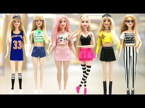 Play Doh Street Style Sport Dress Cropped Top Disney Princess Rapunzel & Barbie Dolls