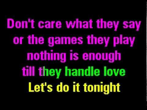 Give Me Everything Tonight Karaoke + Lyrics