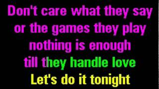 Give Me Everything Tonight (Karaoke + Lyrics)