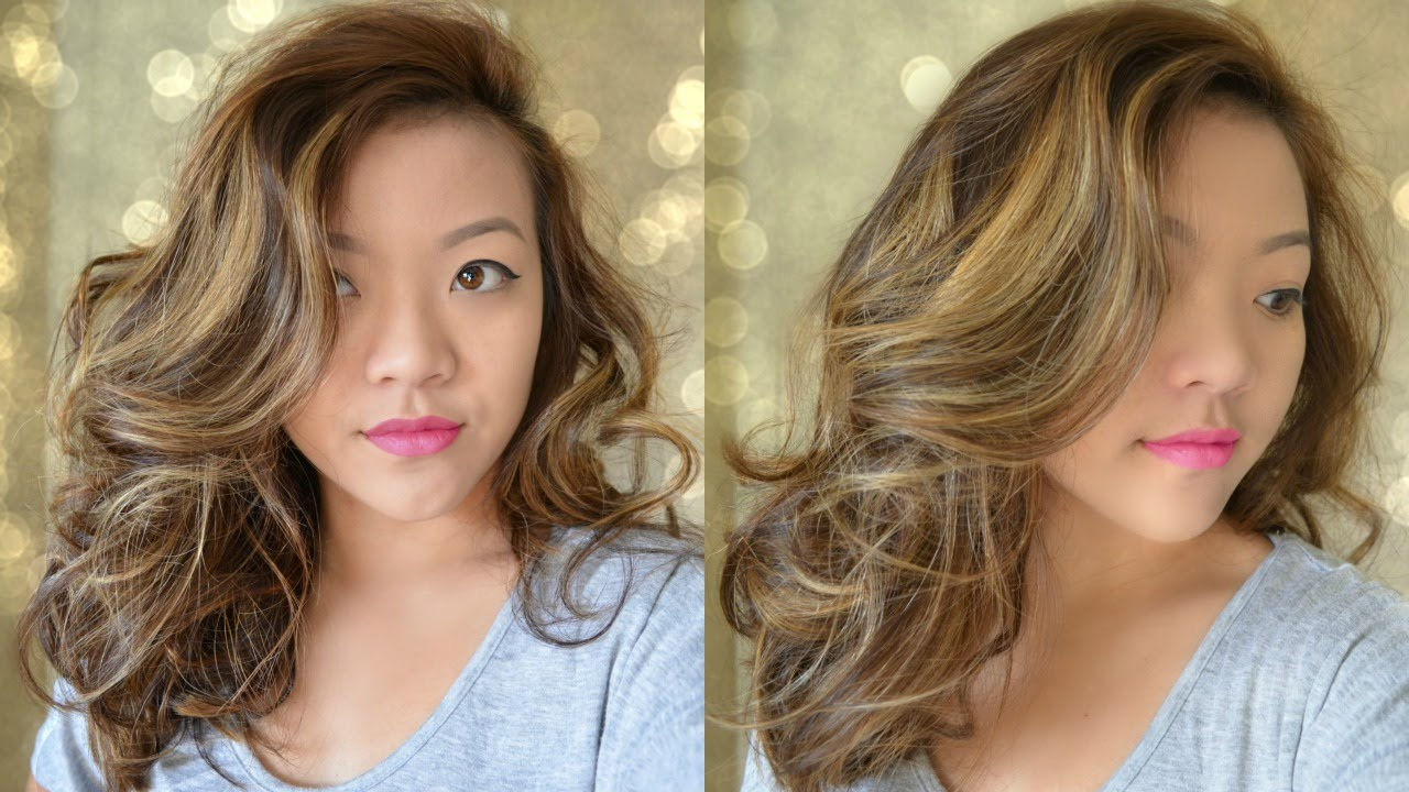 big wavy curls for medium length hair - bombshell curls - youtube