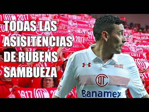 Todas las asistencias de Rubens Sambueza con el Toluca