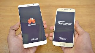 Huawei Mate 9 vs Samsung Galaxy S7 Android 7.0 Nougat - Speed Test! (4K)