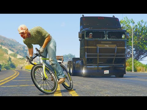 BICIS vs CAMIONES! CUIDADO!! - GTA 5 ONLINE thumbnail