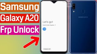Google Account Bypass Samsung A20 (A205F) Remove Frp Lock New Method