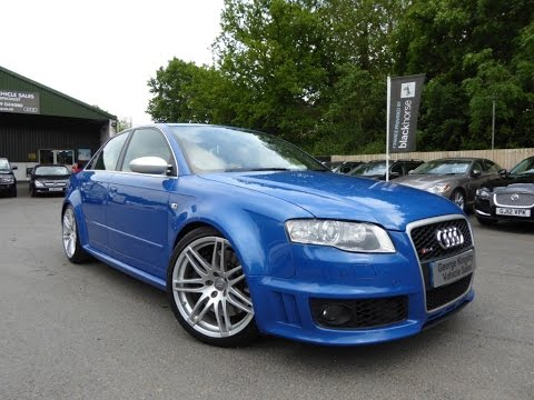 2007 Audi RS4 Quattro V8 for Sale at George Kingsley Vehicle Sales, Colchester, Essex. 01206 728888