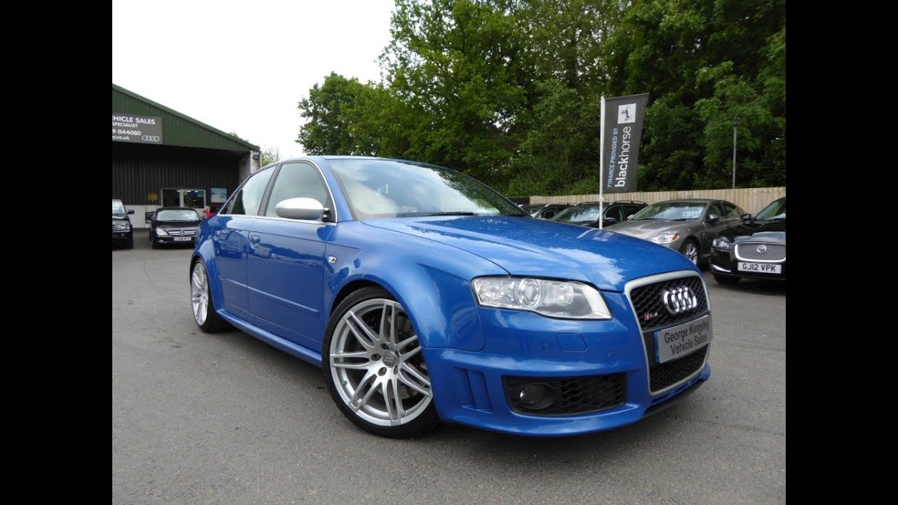 2007 audi rs4 quattro v8 for sale at george kingsley vehicle sales colchester essex 01206. Black Bedroom Furniture Sets. Home Design Ideas