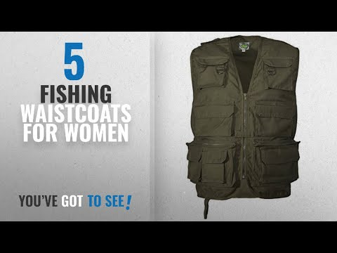Top 10 Fishing Waistcoats For Women [2018]: Adults Multipocket Fishing Vest Olive Xxl