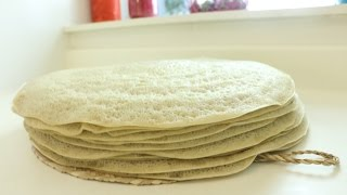 "Ethiopian Recipes ""How to make Barley & Teff Injera"""