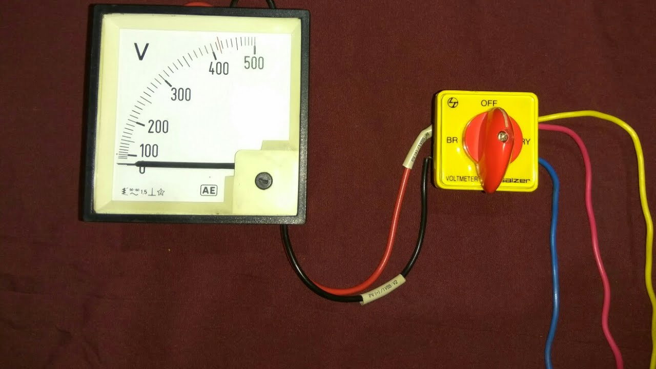 voltmeter selector switch working and wiring in hindi by electric guru [ 1280 x 720 Pixel ]