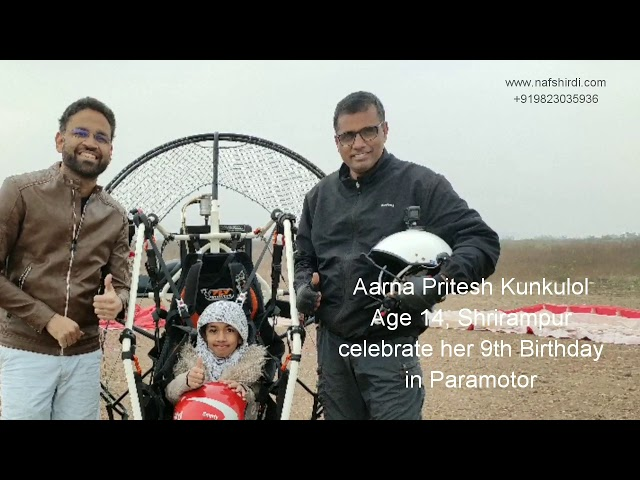 Aarna celebrate her 9th birthday in Paramotor with Appasaheb Dhus