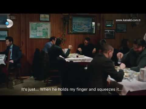 Siyah Beyaz Aşk 22. Ferhat, Abidin and Dilsiz in the restaurant . (English subs)