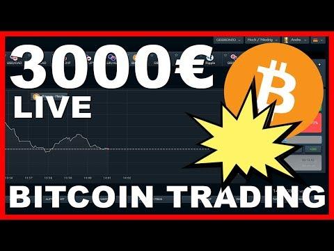 1000€ Mit LIVE Bitcoin Trading Verdienen! Kryptowährungen Handeln (Deutsch)