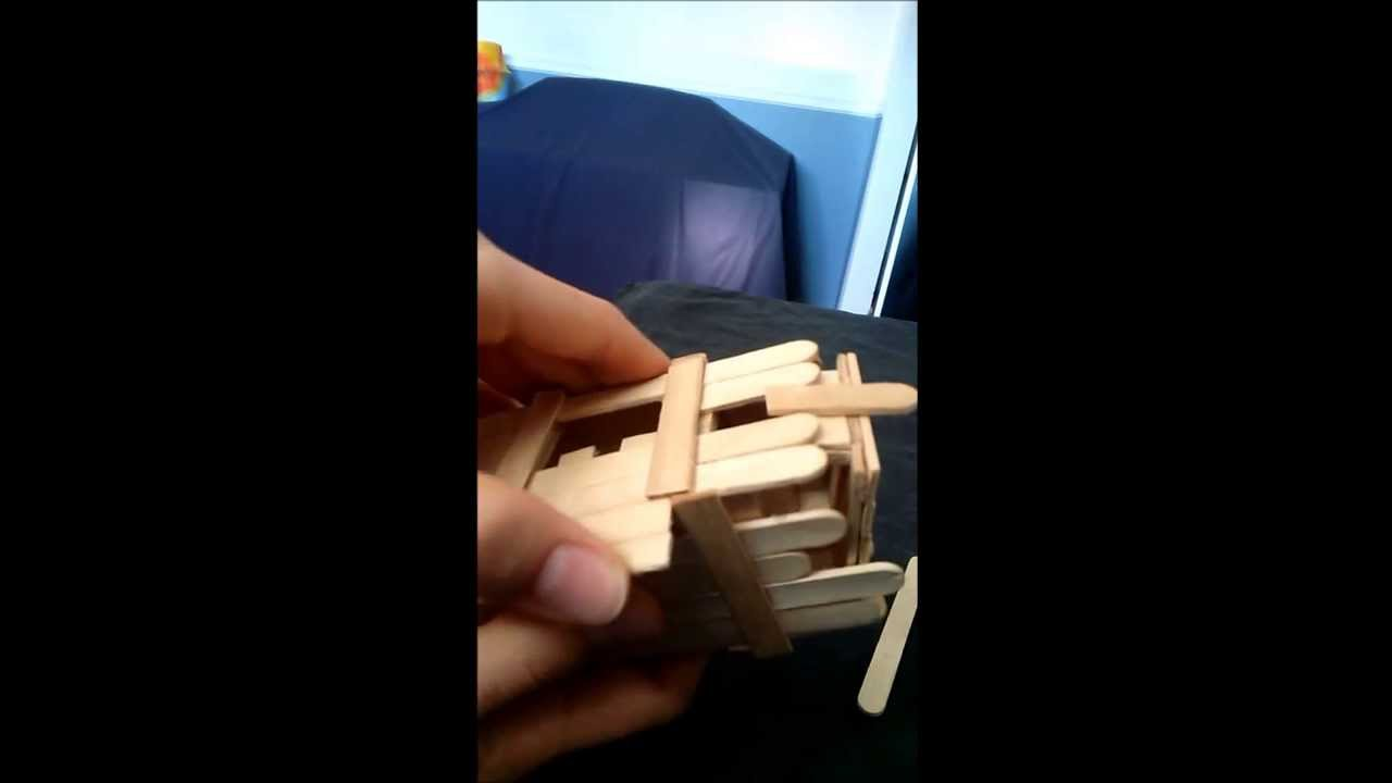 Duel Compartment Puzzle Box Made From Popsicle Sticks