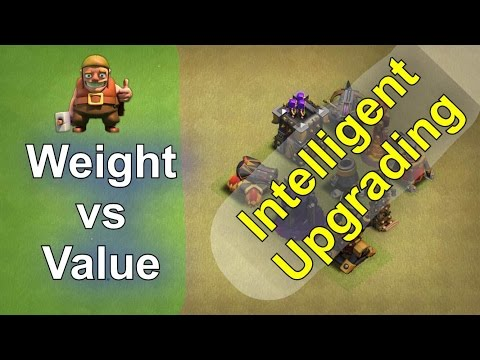 Smart Upgrading: War Weight vs Defensive Value (TH9, 10, 11) - Including Number Values