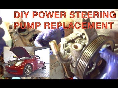 Replacing Power Steering Pump Infiniti G35/350z (DIY How To!) - YouTube