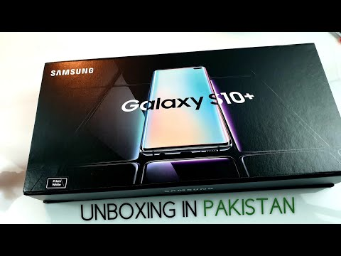 Samsung Galaxy S10+ Prism White Unboxing in Pakistan [Urdu/Hindi]