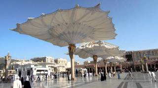 The Opening of Giant Umbrellas at Masjid Nabawi, Madinah Al-Munawwarah