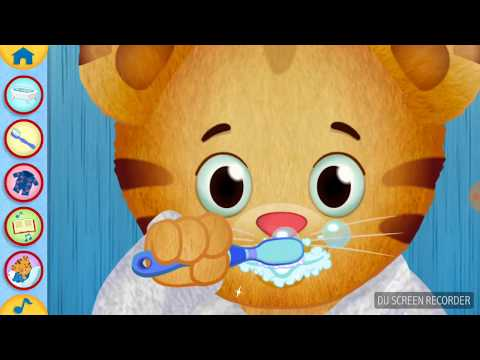 Daniel tiger . How to brush your teeth.