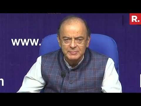 FM Arun Jaitley Addresses Media Over #CBICleanUp