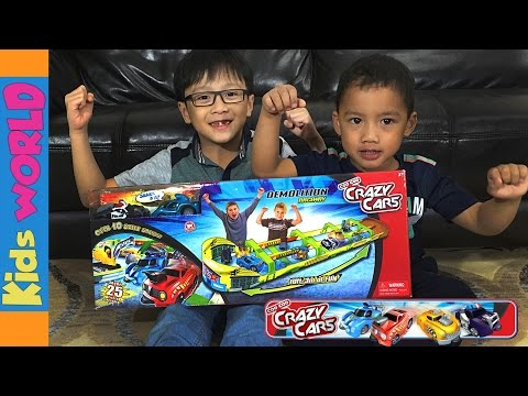 Demolition Raceway Crazy Cars Toys Review and Unboxing | Charlie's Kids World