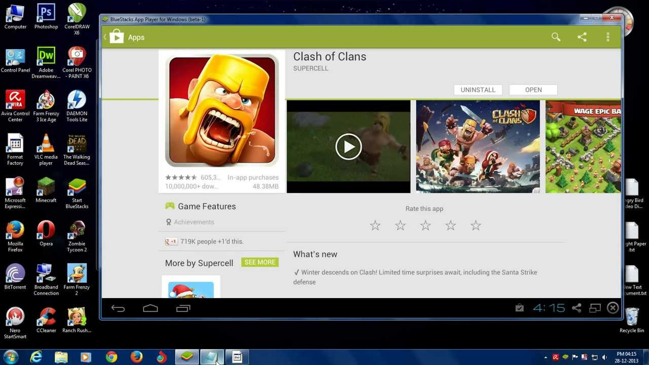 How To Dowload Install Clash Of Clans In Pc 2014 Free Windows Mac Youtube