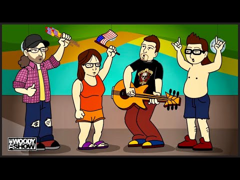 The Woody Show - Redneck News: Naked in Walmart | Animated Podcast