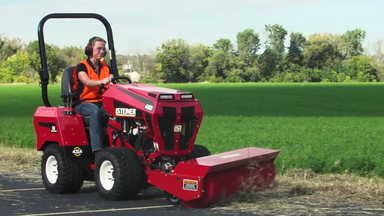 Tractor Rotary Broom For Garden : Rotary sweeper tractor attachment for the steiner