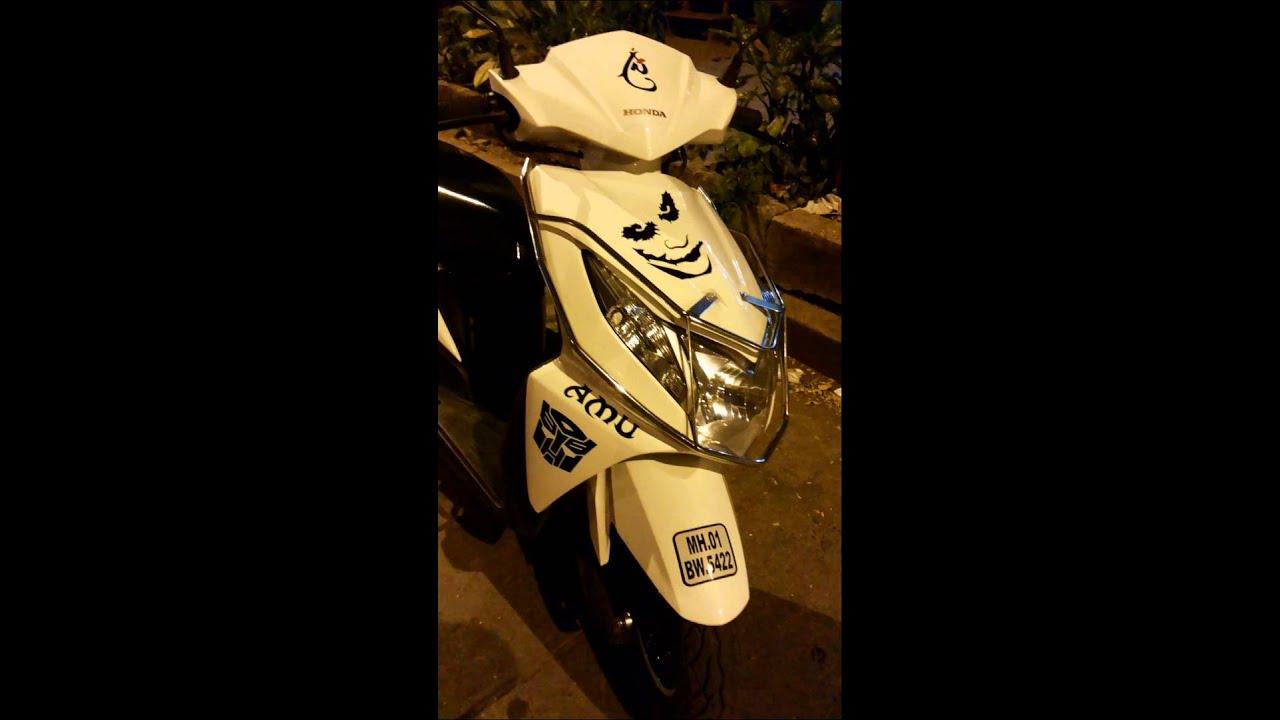 bike stickers design for dio