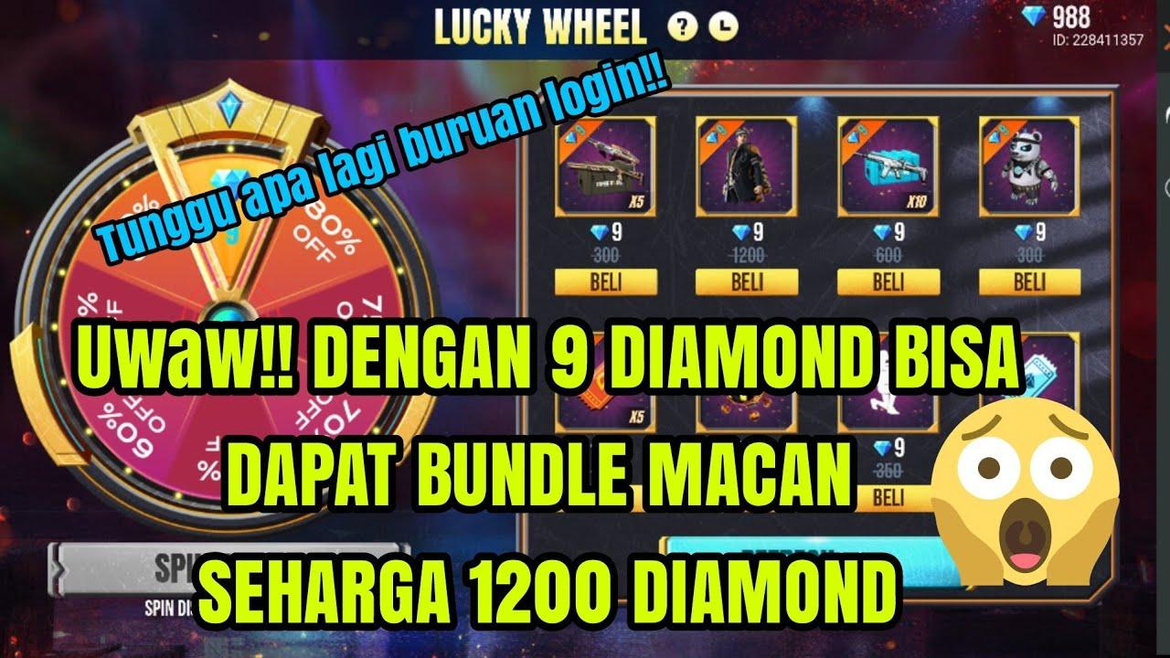 BUNDLE MACAN HARGA 1200 DIAMOND JADI 9 DIAMOND DOANK !!! DI LUCKY WHEEL