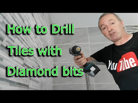 How to drill tiles with Diamond drill bits  .. Profix