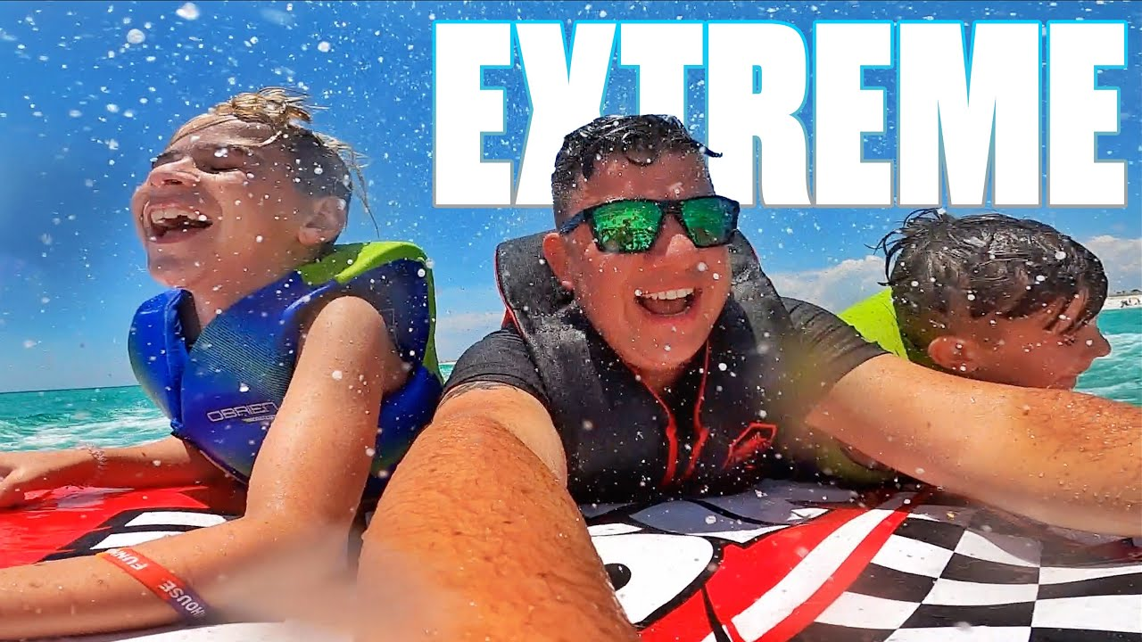 JET SKI TUBING OVER DOLPHINS | FINDING BEACH TREASURE | CRASHED BOAT | THIS IS EXTREME!
