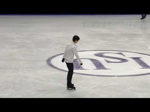 4CC OP 09.02.20 Yuzuru Hanyu fancam beginning of practice