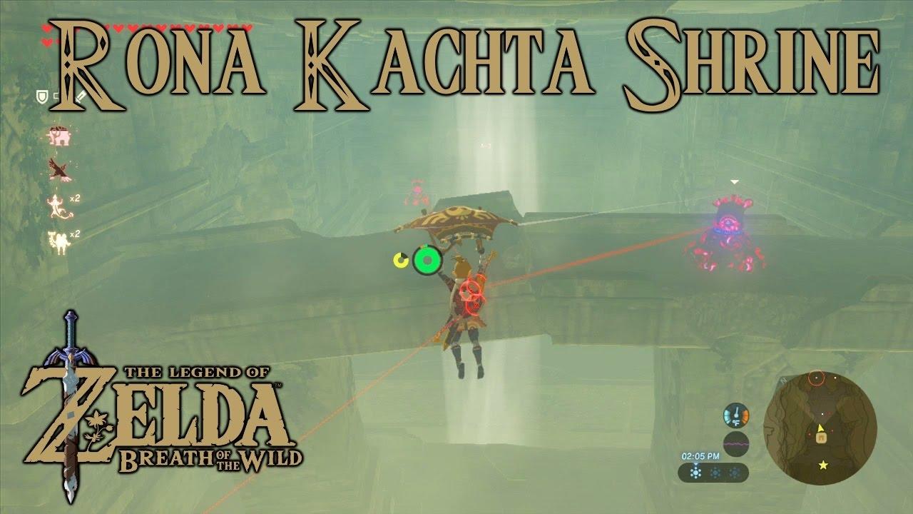 Zelda Breath Of The Wild Playthrough Rona Kachta Shrine Forgotten Temple