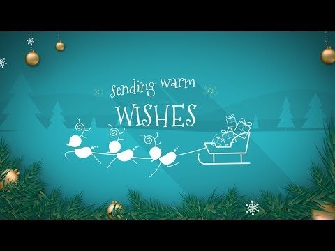 Animated Christmas Card Template - Warm Xmas Wishes