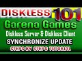 GARENA GAMES DISKLESS SERVER AND CLIENT UPDATE SYNCHRONIZE