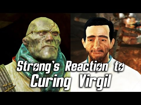 Fallout 4 - Strong's Reaction To Curing Virgil