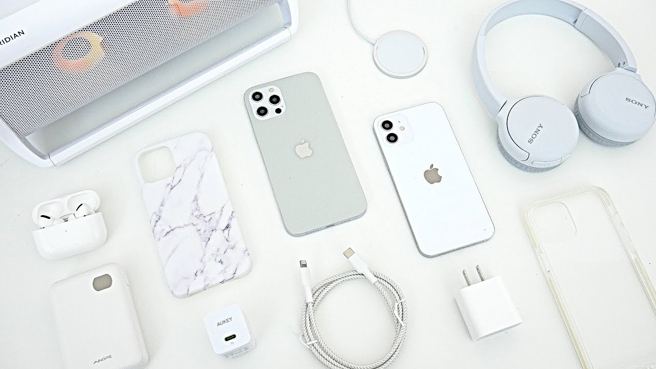 Top Colorful Accessories For The iPhone 12 & 12 Pro! (White/Silver) -  YouTube