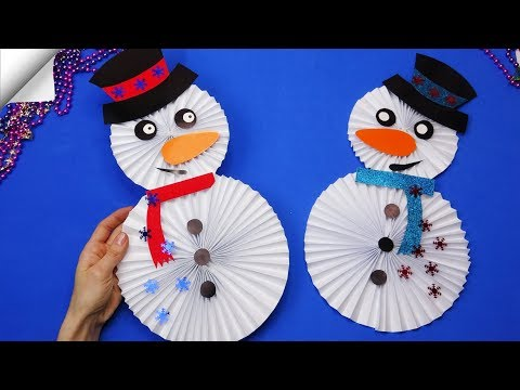 DIY paper crafts for kids Paper toys | christmas craft snowman