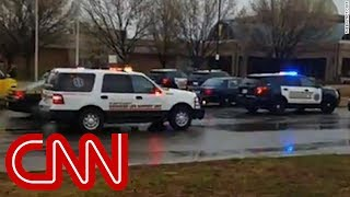 Student speaks to CNN while on lockdown