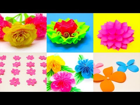 20 DIY Paper Flowers   How To Make Easy Paper Flowers Craft ideas