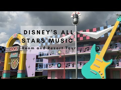 Disneys All Star Music Resort  Room and Resort Tour!