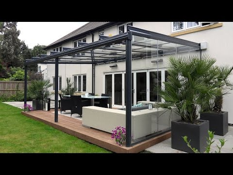 Glass Veranda installation in Hampshire with glass sides