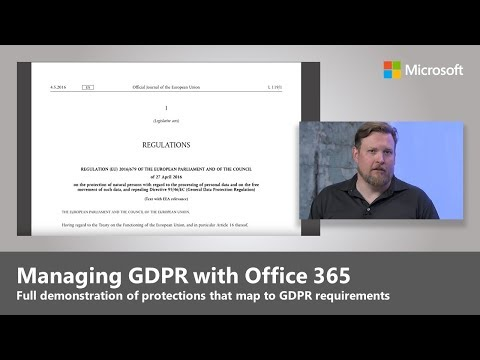 Understanding the General Data Protection Regulation and your options with Microsoft 365