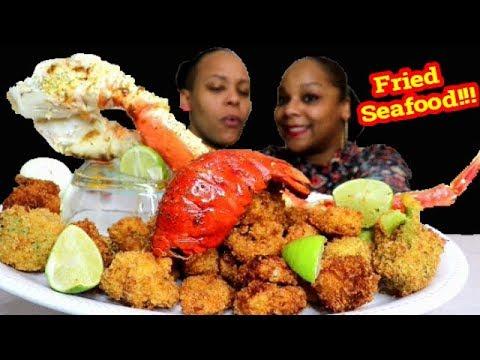 Fried Seafood Boil Mukbang in Bloveslife Sauce