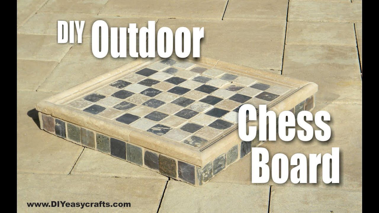 How To Make A Diy Outdoor Chess Board Youtube